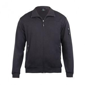 Authentic Klein Herren Jerseyjacke aus hochwertigem Baumwollmischgewebe ist dank ihres Elasthan-Anteils absolut bequem